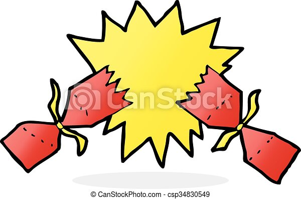 cartoon christmas cracker - csp34830549