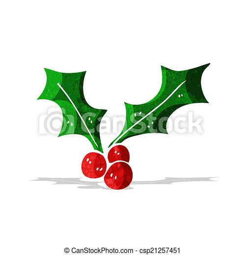 Christmas Holly Clip Art.Cartoon Christmas Holly