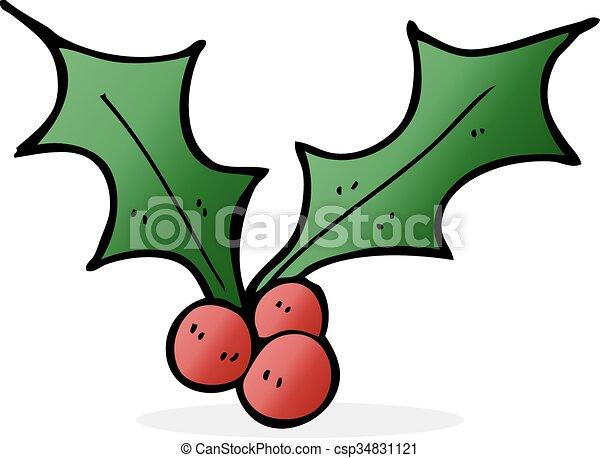 Christmas Holly Cartoon.Cartoon Christmas Holly