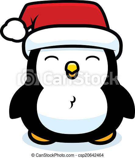 Christmas Hat Cartoon.Cartoon Christmas Penguin