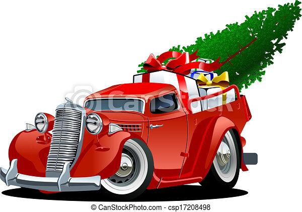 Cartoon Christmas Pickup - csp17208498