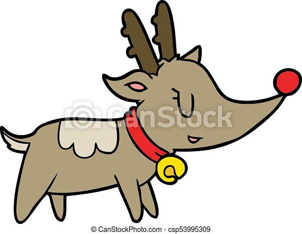 cartoon christmas reindeer vector clipart search illustration rh canstockphoto com reindeer vector tutorial reindeer vector free