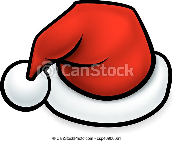 cartoon christmas santa hat a cartoon red christmas santa clip rh canstockphoto com