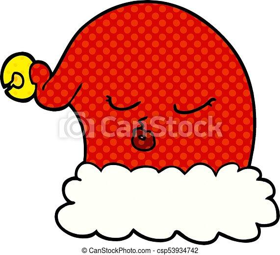 Christmas Hat Cartoon.Cartoon Christmas Santa Hat