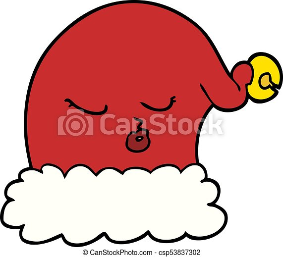 cartoon christmas santa hat vector clipart search illustration rh canstockphoto co uk