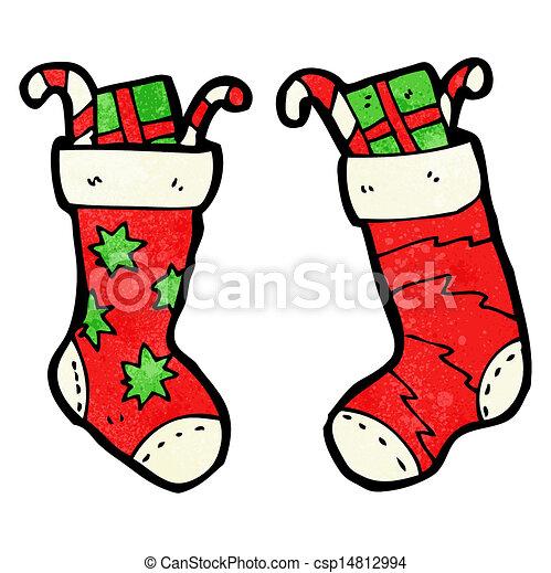 cartoon christmas stockings eps vectors search clip art rh canstockphoto com christmas stocking clip art pictures christmas stocking clipart images