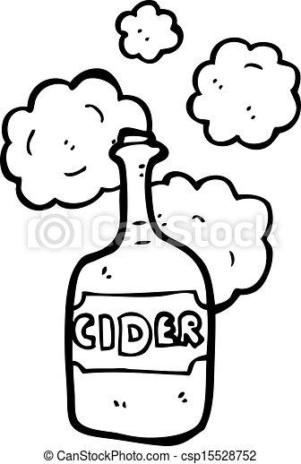 cartoon cider bottle - csp15528752