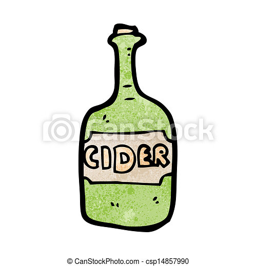 cartoon cider bottle - csp14857990