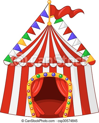 Cartoon Circus Tent Isolated Vector  sc 1 st  Can Stock Photo & Vector illustration of cartoon circus tent isolated on white ...