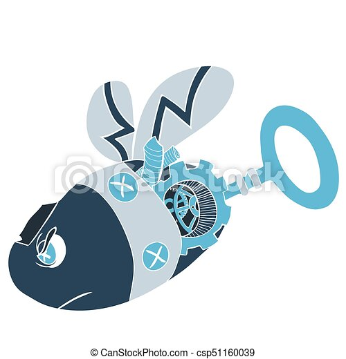 cartoon clip art illustration of a robot wasp or bee vectors rh canstockphoto com steampunk gear clipart steampunk clipart images