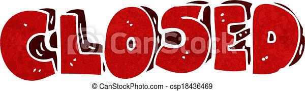 cartoon closed symbol - csp18436469