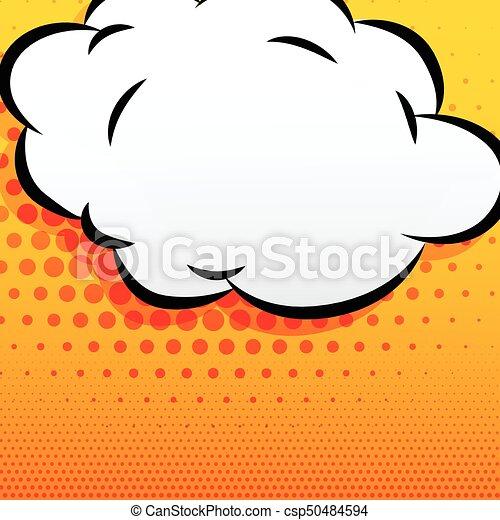 cartoon cloud comic style background - csp50484594