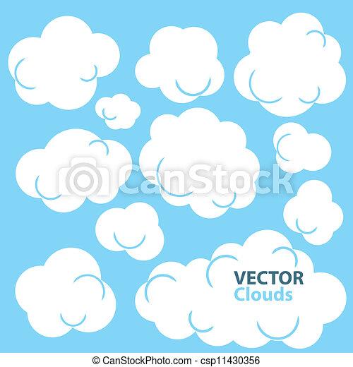 Cartoon Clouds - csp11430356