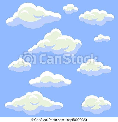 Puffy Clouds Clip Art