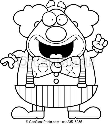 Cartoon Clown Idea - csp23518285