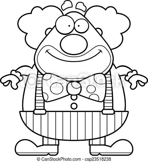 Cartoon Clown Smiling - csp23518238