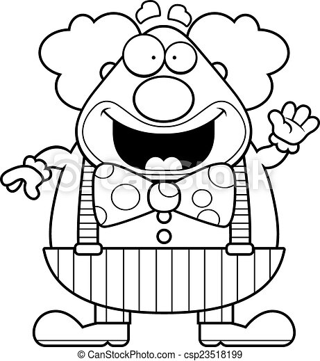 Cartoon Clown Waving - csp23518199