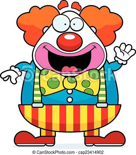 Cartoon Clown Waving - csp23414902