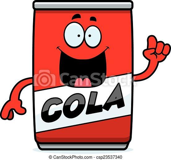 Cartoon Cola Can Idea - csp23537340