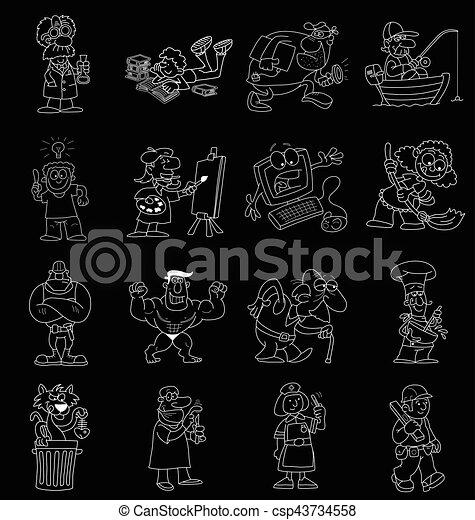 Cartoon collection - csp43734558