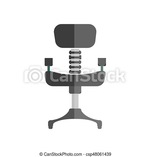 cartoon comfortable simple black office chair isolated illustration