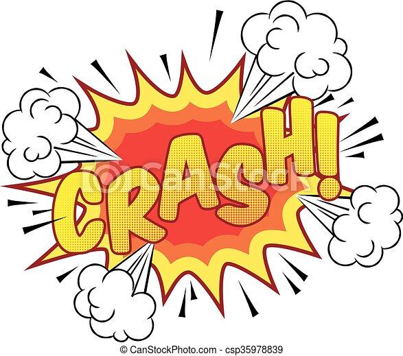Cartoon Comic Book Crash Explosion Sound Effect - csp35978839