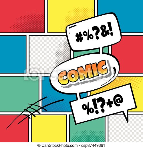 cartoon comic book template theme vector art illustration clip art rh canstockphoto com comic book clip art free comic book clipart