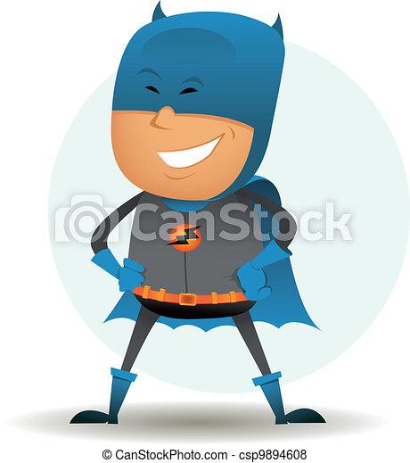 Cartoon-comic-super-héroe-seis - csp9894608