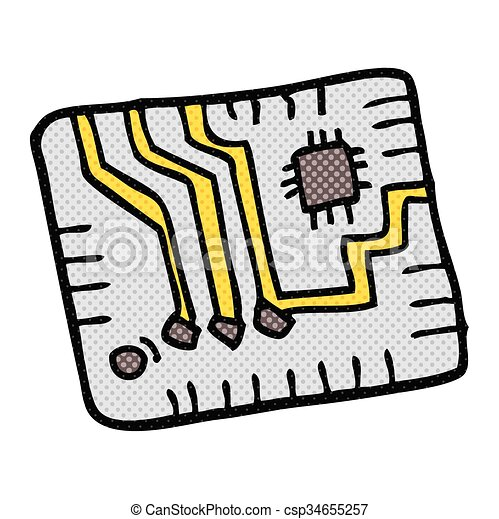 freehand drawn cartoon computer circuitboard clipart vector search rh canstockphoto com circuit board clipart png electrical circuit board clipart