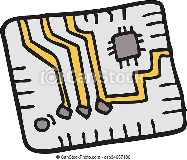 freehand drawn cartoon computer circuitboard vector search clip rh canstockphoto co nz circuit board clipart circuit board clip art free