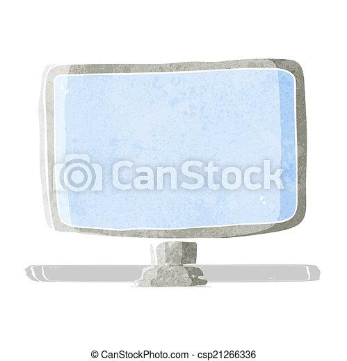 cartoon computer screen - csp21266336
