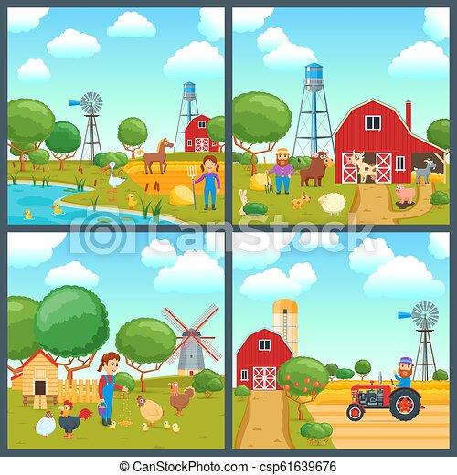 Cartoon concepts set - csp61639676