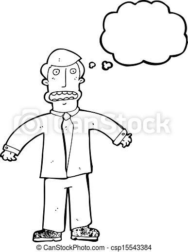 cartoon confused businessman - csp15543384