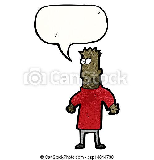 cartoon confused businessman - csp14844730