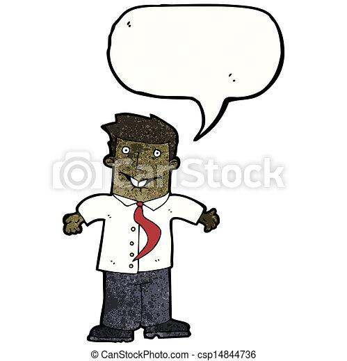 cartoon confused businessman - csp14844736