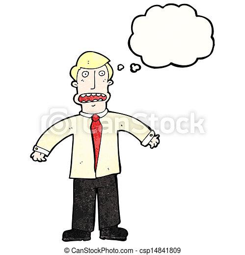 cartoon confused businessman - csp14841809