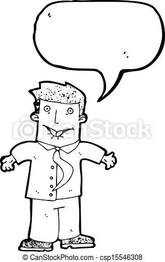 cartoon confused businessman - csp15546308