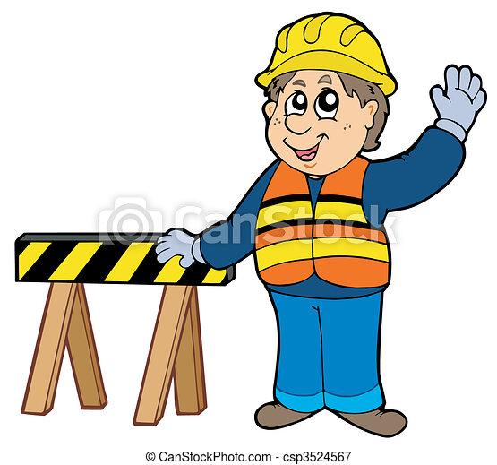 cartoon construction worker vector illustration vectors rh canstockphoto com clipart construction worker computer construction worker clipart