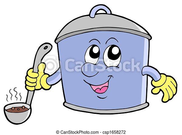 Cartoon cooker pot - csp1658272