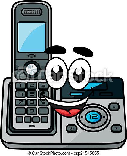 cartoon cordless phone cordless phone in cartoon style suitable rh canstockphoto com Phone Base Phone Clip Art