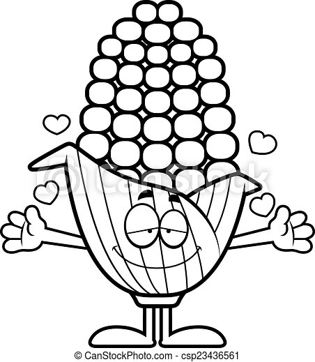 cartoon corn hug a cartoon illustration of an ear of corn clip rh canstockphoto com hug clipart black and white hug clipart free