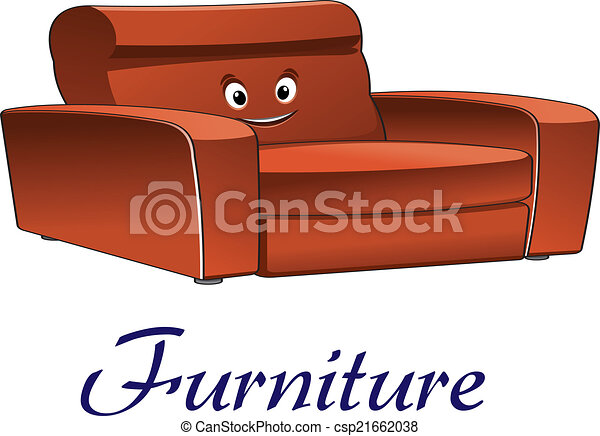 Genial Cartoon Couch Furniture Character   Csp21662038