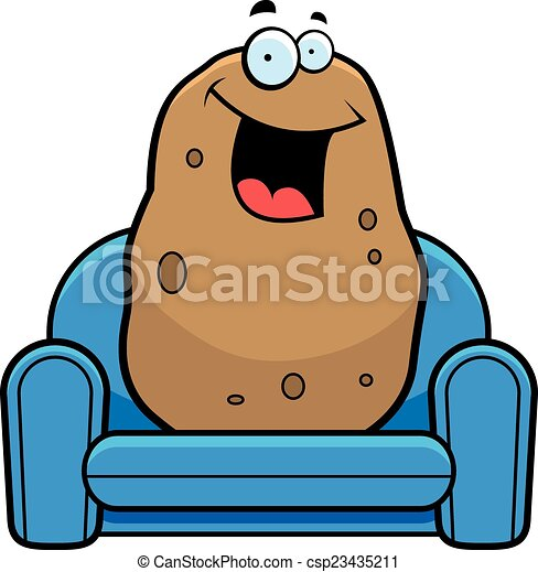 cartoon couch potato a cartoon illustration of a couch vector rh canstockphoto com