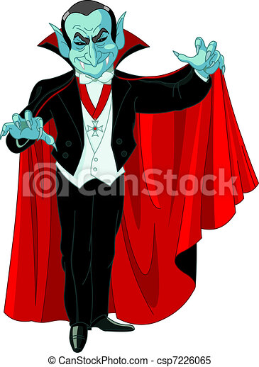 Cartoon Count Dracula - csp7226065