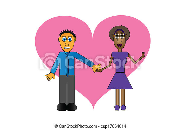 Interracial cartoon art