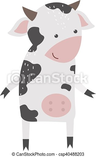 cartoon cow character isolated milk cow bull buffalo cartoon character cartoon cow color dairy farm beef nature domestic can stock photo