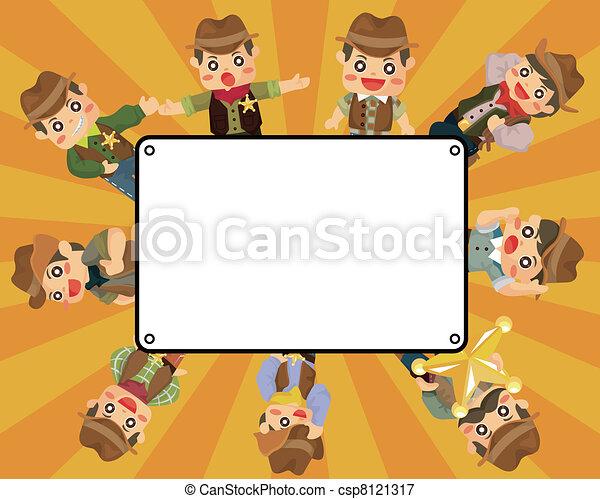 cartoon cowboy card - csp8121317