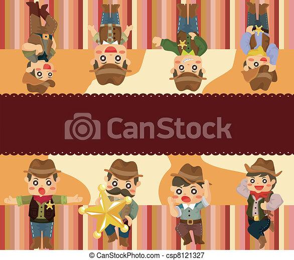 cartoon cowboy card - csp8121327