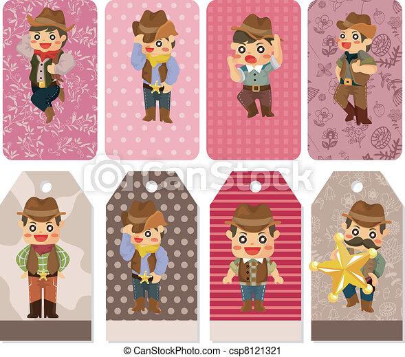 cartoon cowboy card - csp8121321