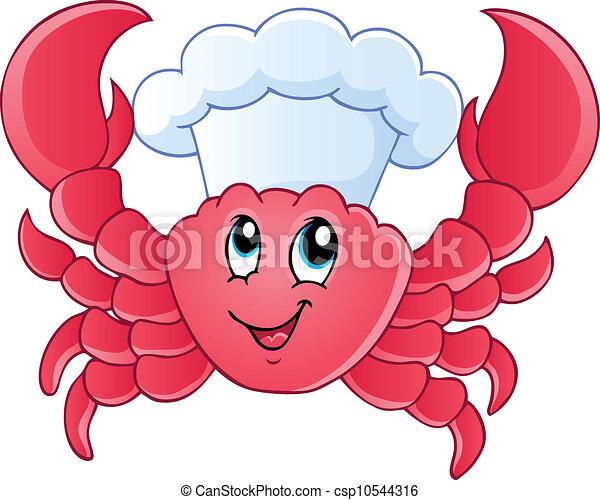 Cartoon crab chef - csp10544316